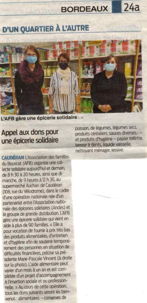 ARTICLE / SUD OUEST
