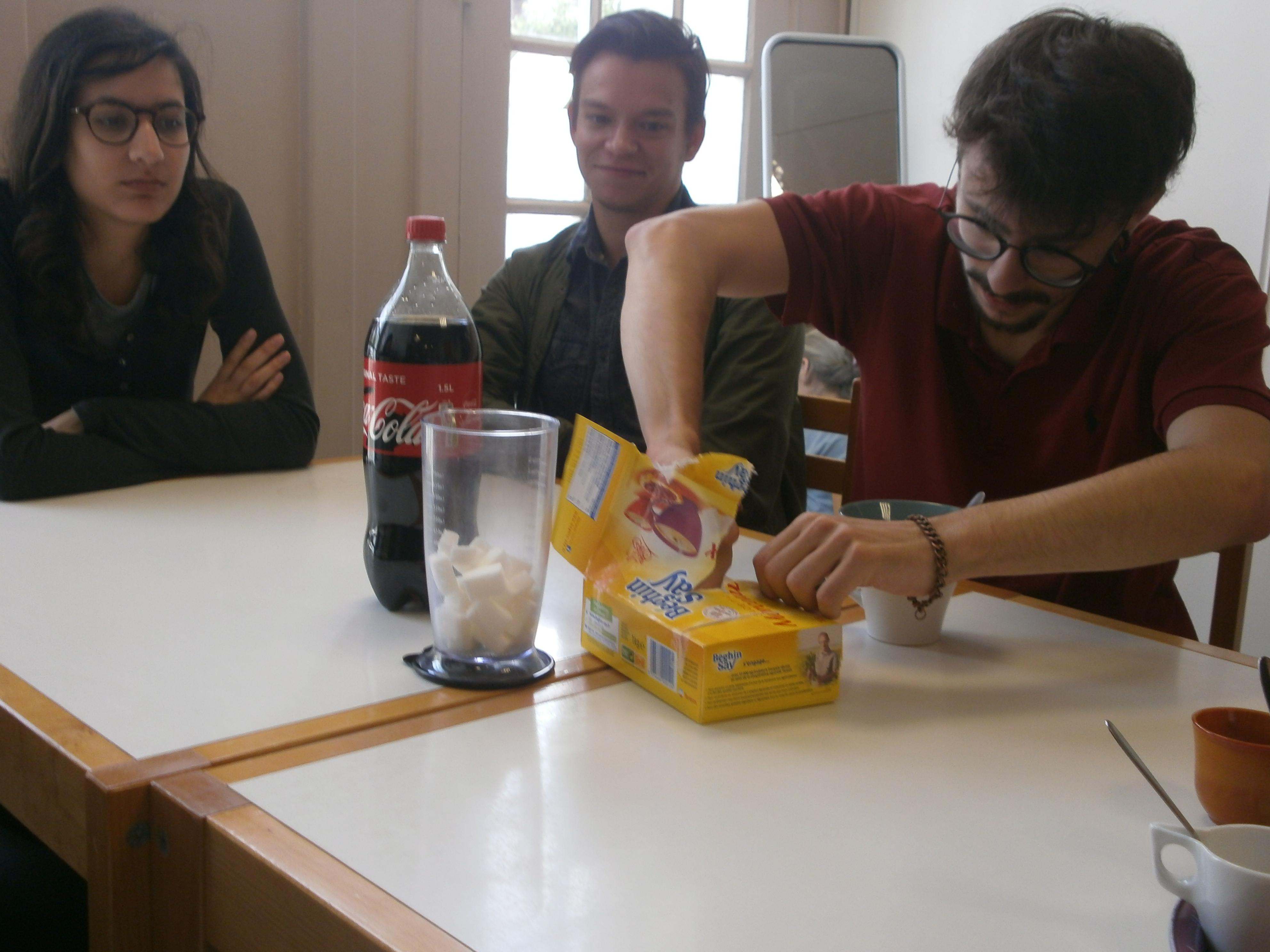 Le test Coca/combien de sucre ?